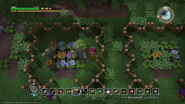 左と同じように、右側の庭園に草花を設置する