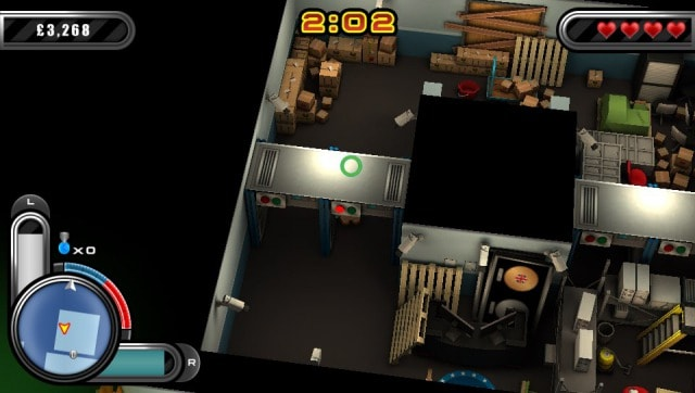 救助者を連れて探知器を通る。 救助者がロボットならば赤いランプが点灯。