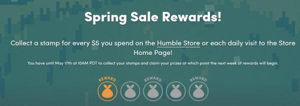 貰ったスタンプは「Spring Sale Rewards!」ページで確認できます。